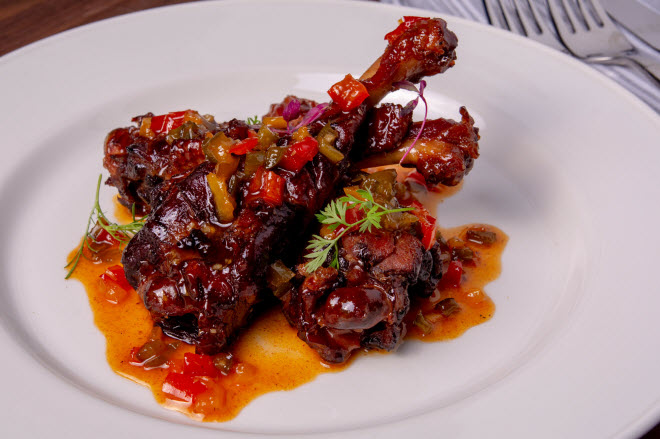 Bobby's duck wing appetizer