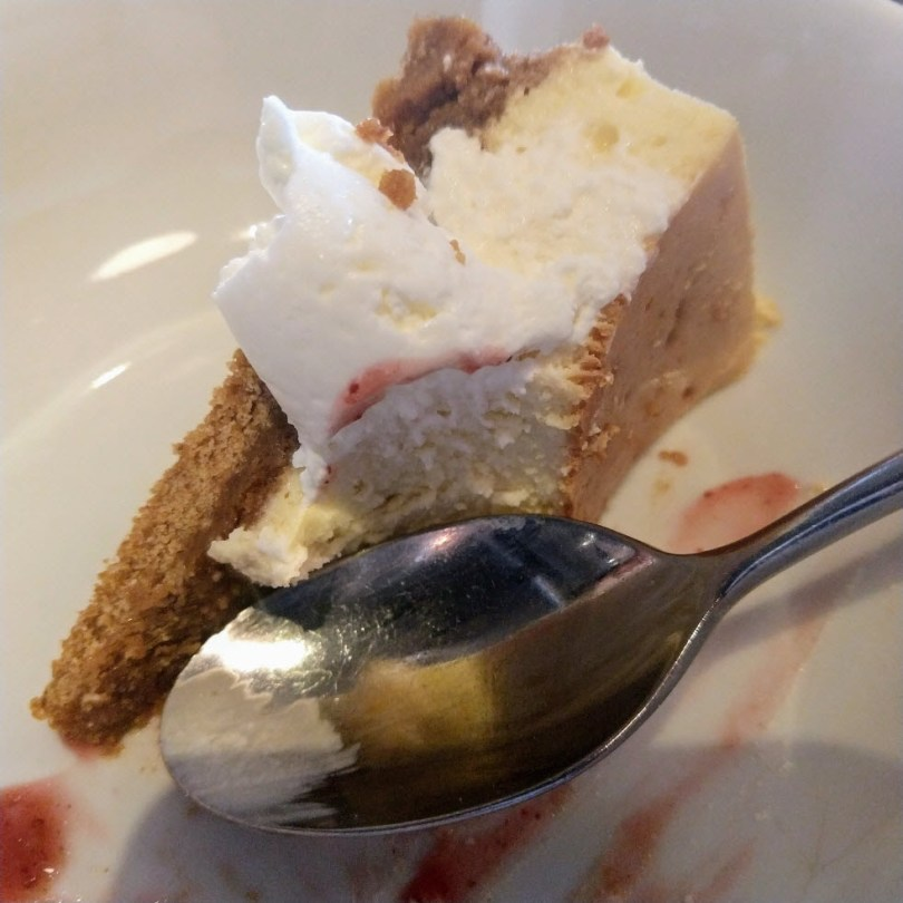 Scrumptious honey cheesecake at Two
