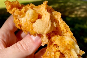 mac and cheese in deep fry batter