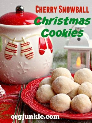 cherry christmas snowball cookies