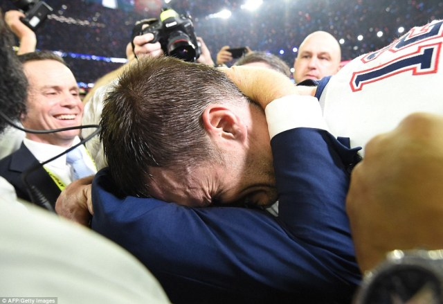 Tom Brady breaks down in tears
