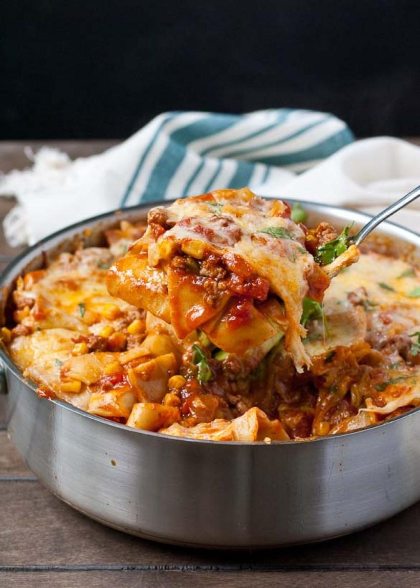 Tex Mex Skillet Lasagna