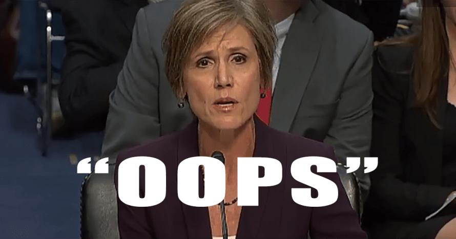 Sally Yates Admits She Overruled a LEGAL Executive Order