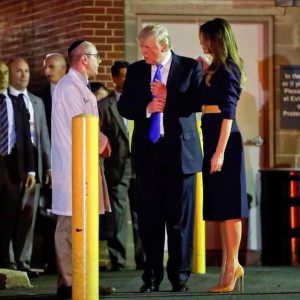 President Trump and Melania Trump visits Scalise in the hospital GOP congressional shooting