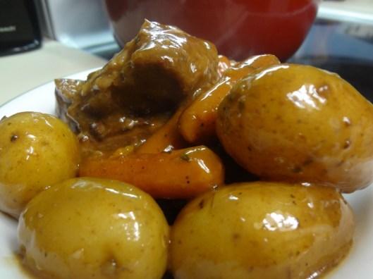 Golden Mushroom Beef Roast