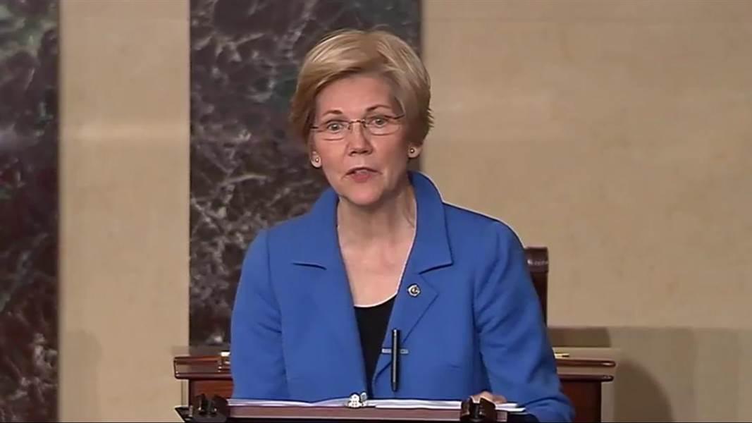 Sen. Elizabeth Warren silenced on Senate floor by Republicans
