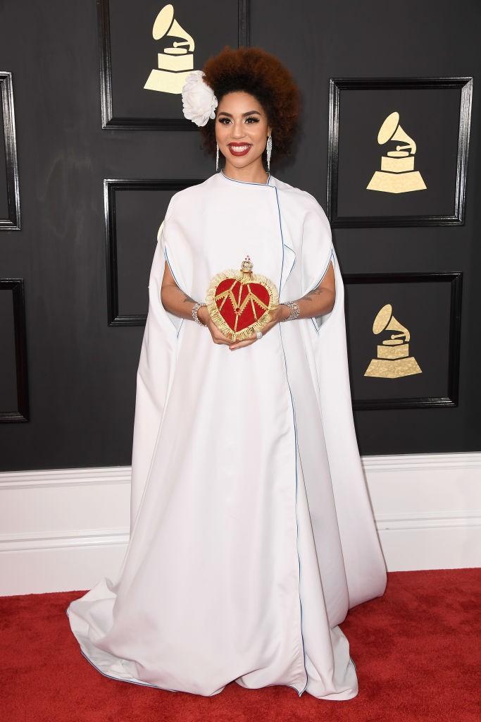 Photos: Joy Villa Unveils Donald Trump Dress at Grammys