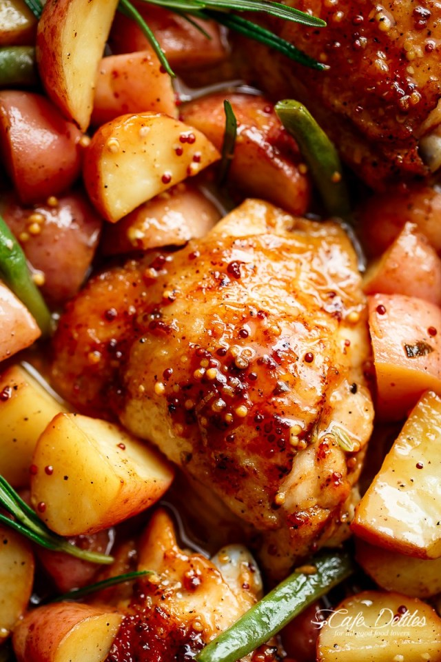 HONEY MUSTARD CHICKEN & POTATOES