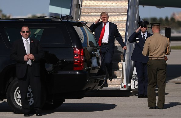 President Trump's motorcade hit by wood; 5 students face charges