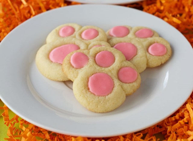 BUNNY PAW THUMBPRINT COOKIES