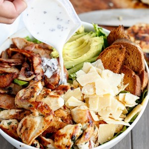 SKINNY CHICKEN AND AVOCADO CAESAR SALAD