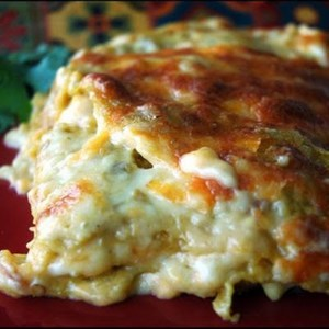 Chicken Enchilada Lasagna