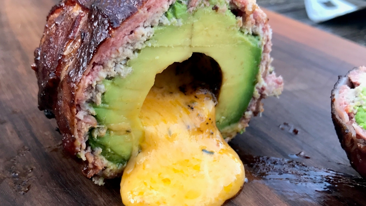 Smoked Stuffed Grilled Avocado