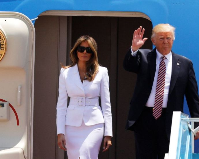 Melania Slaps Away President Trump's Hand