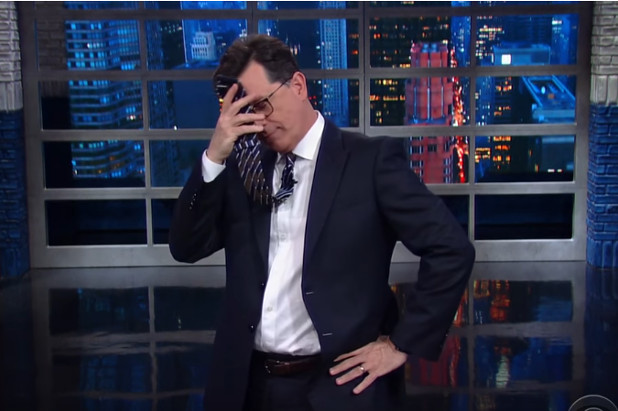 Colbert Makes Homophobic Joke About President Trump