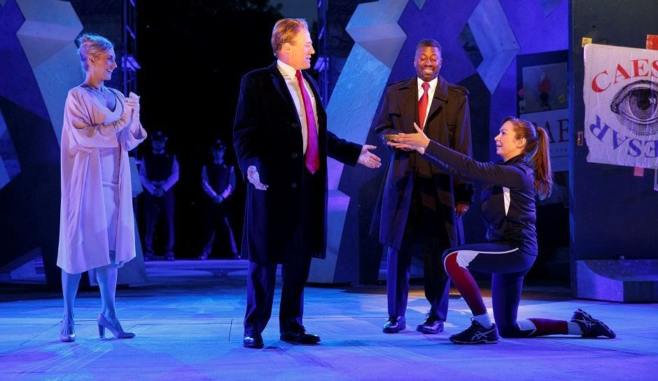 Laura Loomer Disrupts Controversial Rendition of 'Julius Caesar'