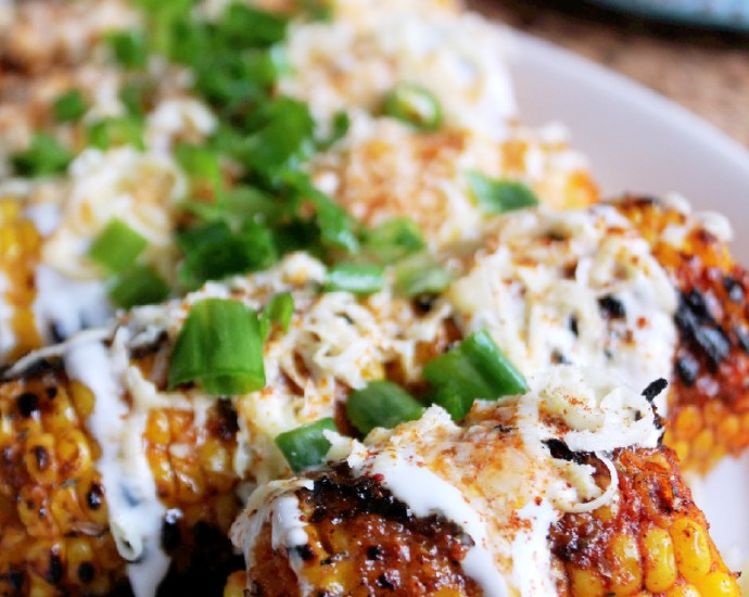 Grilled Elotes-Mexican Corn