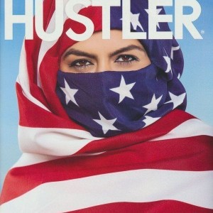 Hustler Cover's Model Wearing American Flag as Hijab