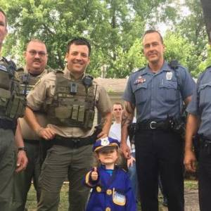 Girl, 3, Puts on Police Uniform to Sell Lemonade and All Her Local Heroes Show Up to Support Her