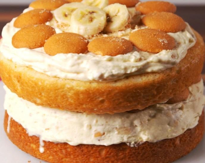 Banana Pudding Ice Cream Cake