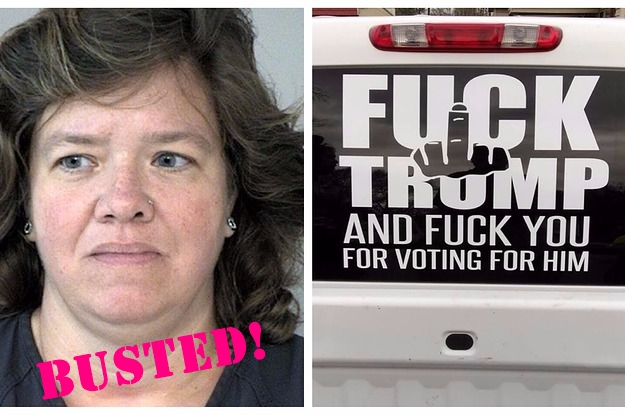 Woman Wanted For 'F*ck Trump' Car Decal Has Been Arrested