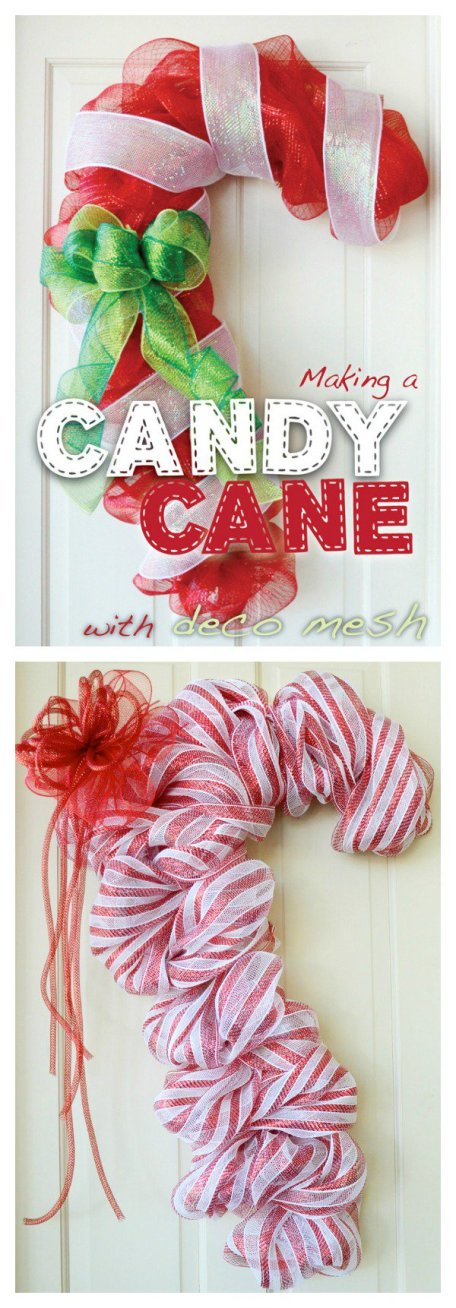 DIY-Candy-Cane-Door-Decoration-with-Deco-Mesh