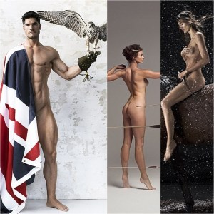 Athletes from around the world have stripped off for a sizzling hot naked calendar to help raise money for charity