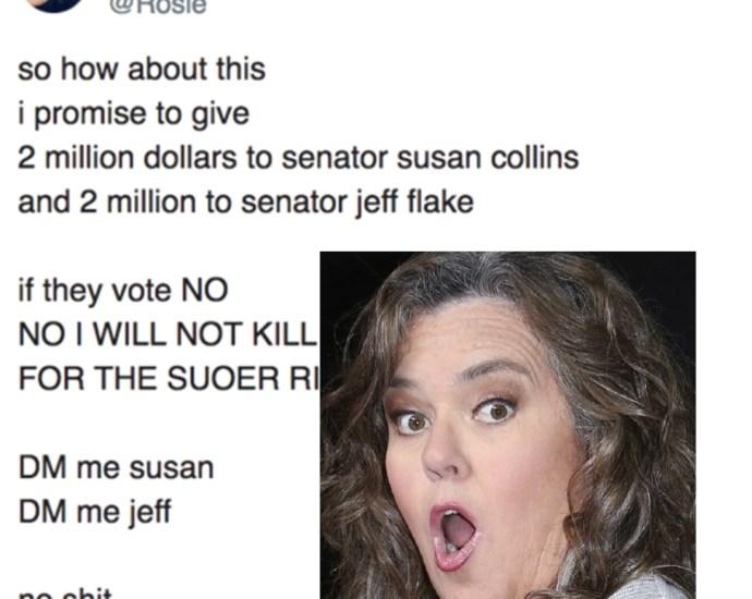 Rosie O'Donnell 2 Million Dollar Federal Crime In Bribe To Republican Senators