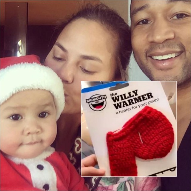 Chrissy Teigen's father Ron gets son-in-law John Legend a crocheted knit 'Willy Warmer' for Christmas