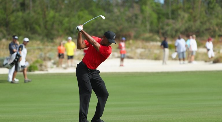 Tiger was NOT happy when a fan yelled during his backswing (Video)