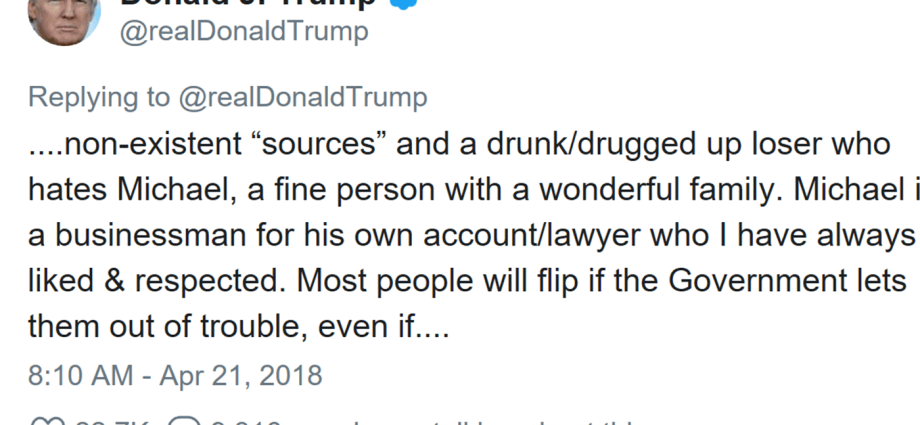 Trump Unleashes On NYT For Suggesting Michael Cohen Will Flip On Him