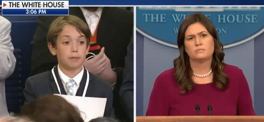 Sarah Sanders Holds Back Tears Over Boy's Question On School Safety