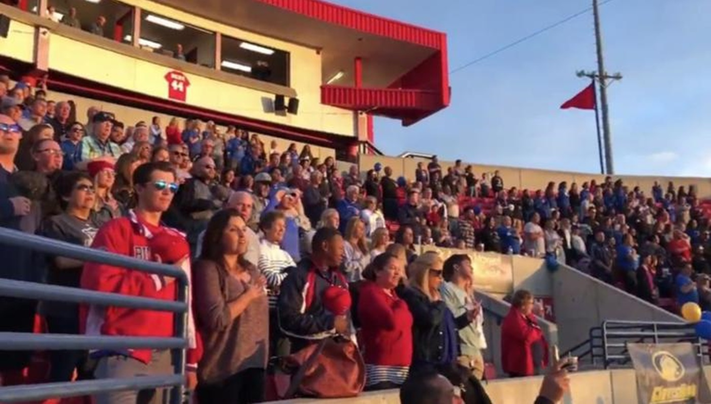 Softball Fans Take Matters Into Their Own Hands After PA Announcer Said There Would Be No National Anthem