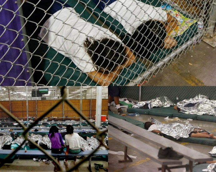 Trump Slams Liberals Over Pictures of Immigrant Kids in Cages