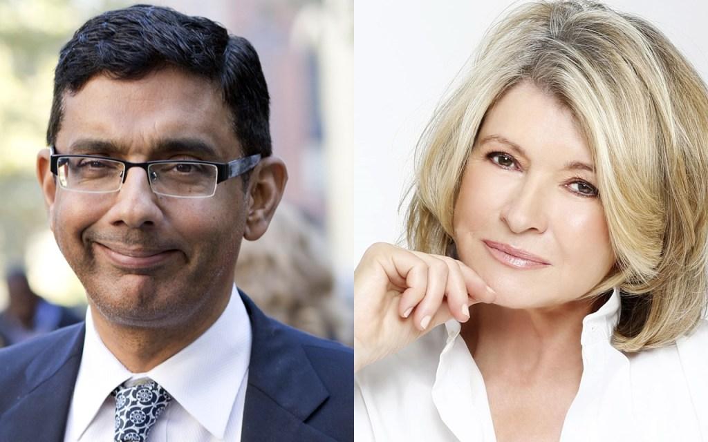 President Trump Considering Martha Stewart Pardon After Dinesh D'Souza