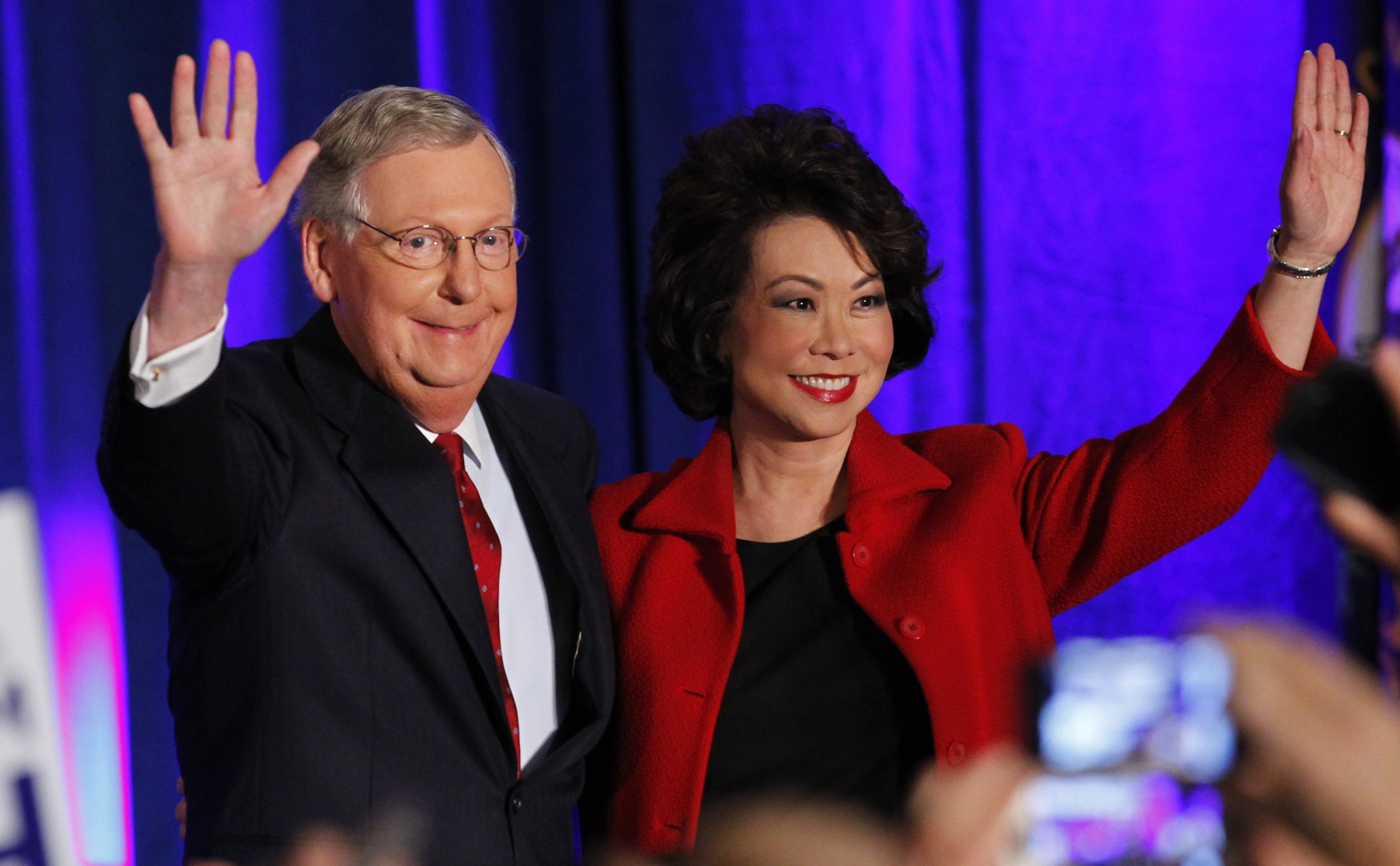 Elaine Chao Tells Protesters to Leave Her Husband Mitch McConnell Alone