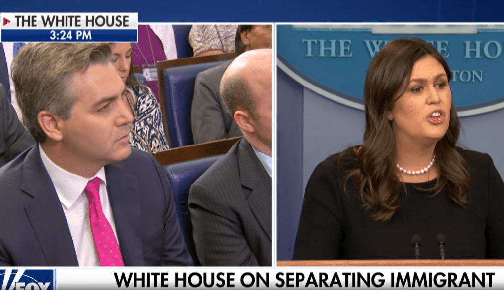 Sarah Sanders Has Had It With Jim Acosta's Crap