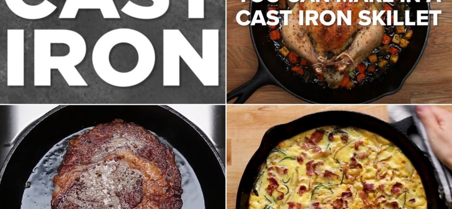 Everything You Need To Know About Cooking With Cast-Iron Pans Plus 9 Dishes To Cook