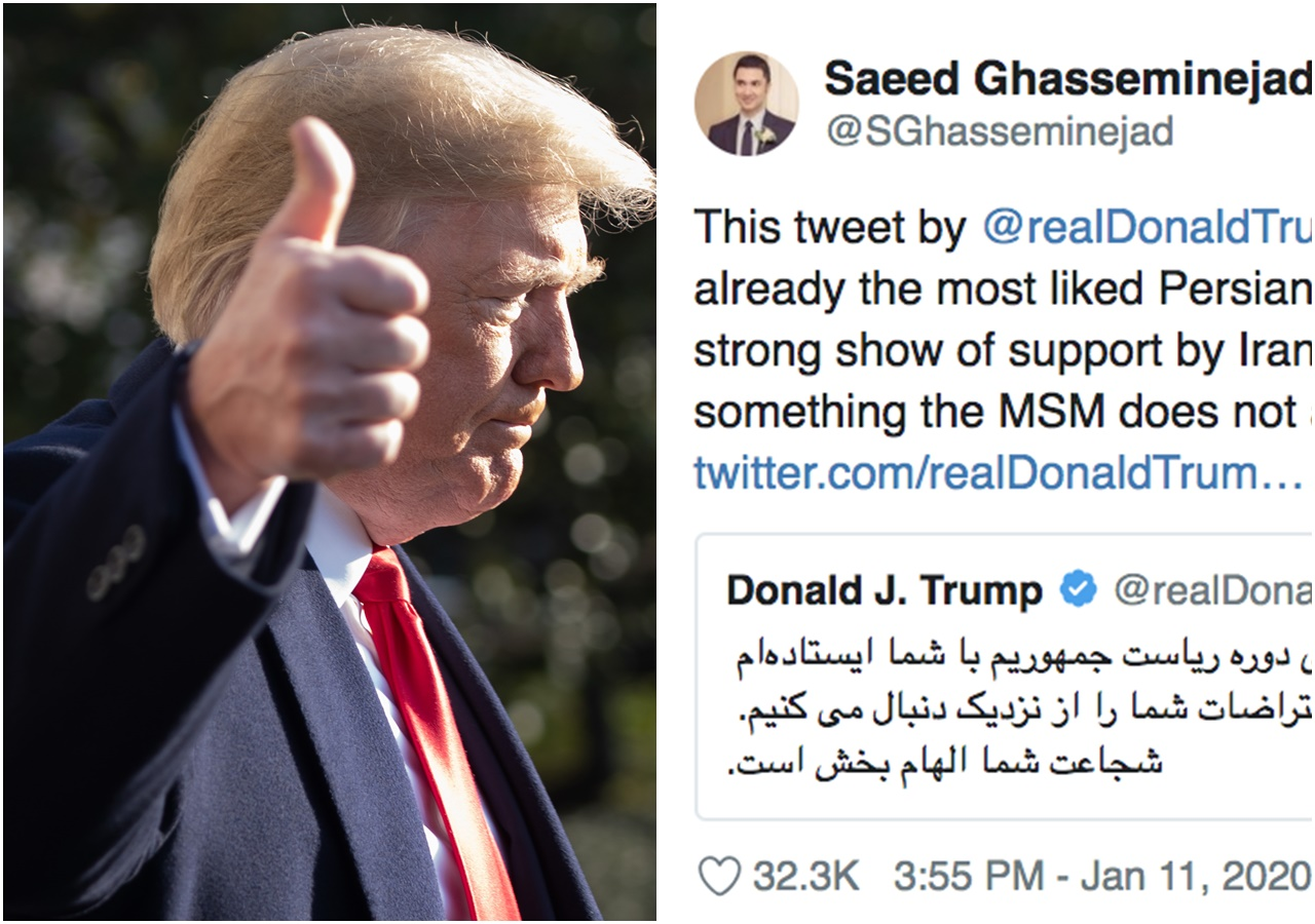 Trump tweet in Farsi 'the most liked Persian tweet' in Twitter's history