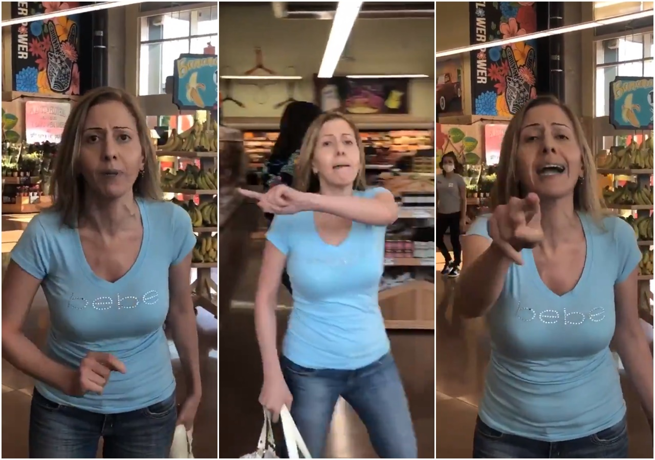 VIDEO: Woman Dubbed 'Karen of the San Fernando Valley' Loses It After Allegedly Asked to Wear A Mask Inside Grocery Store