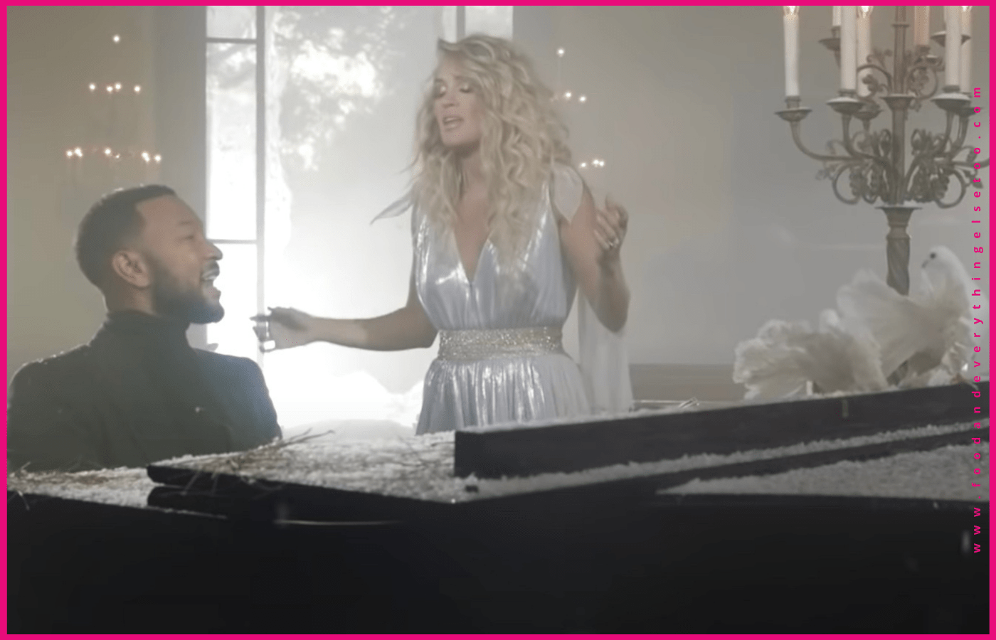 "Music Video; Carrie Underwood and John Legend Perform ""Hallelujah"""