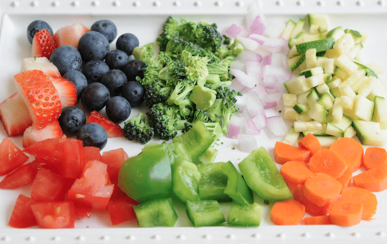 Fruits and veggies are full of fiber!