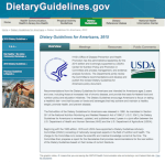 2015 Dietary Guidelines for Americans