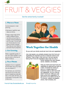 Free Nutrition Handout