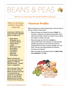 Beans and Peas Handout