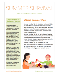 Summer Survival Handout