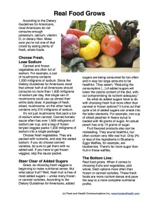 Fruit Veggies More Matters Handout