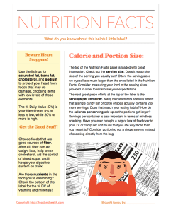 Nutrition Facts Handout