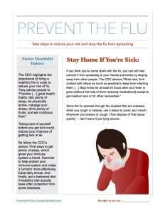 2 More Steps for Flu Prevention