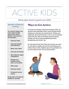 Kids Physical Activity Benefits